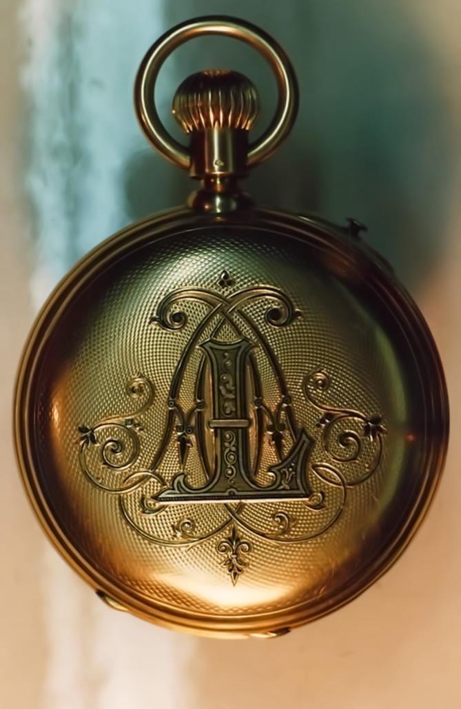 Chronographe de poche en or
